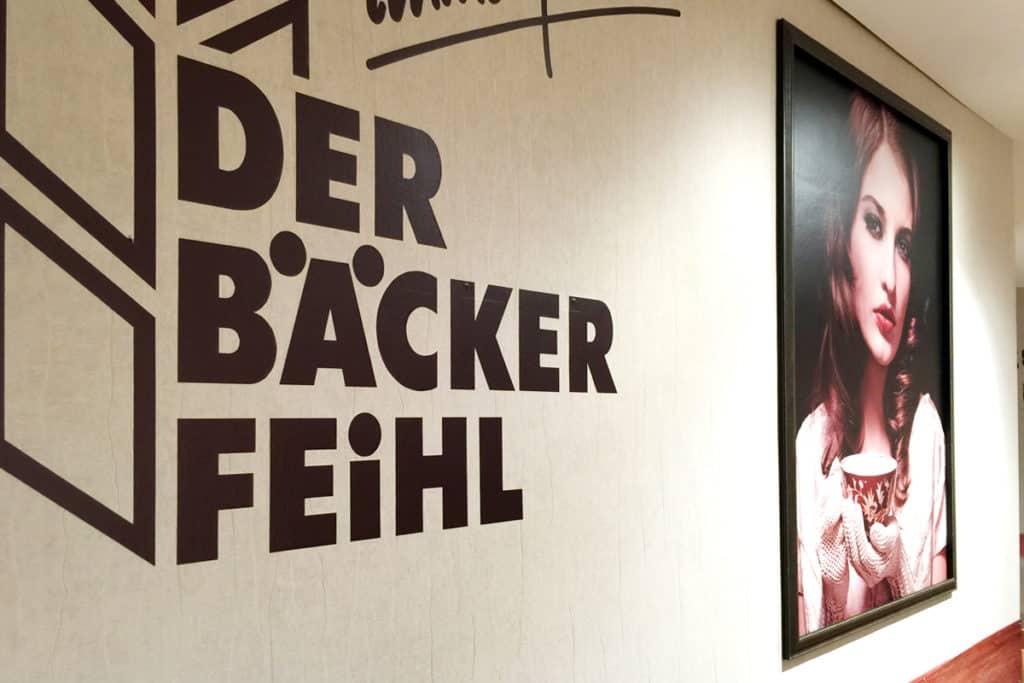 Facelift Der Bäcker Feihl Willmersdorf Arcaden, Wandgestaltung
