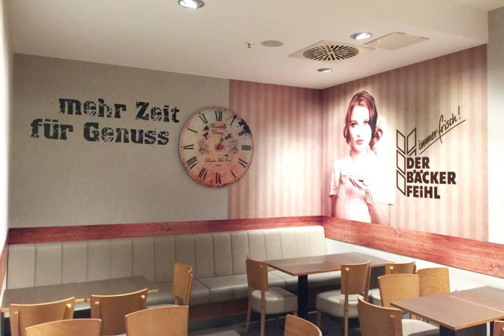 Facelift Der Bäcker Feihl Willmersdorf Arcaden, Fototapete