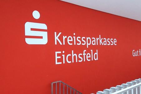 Fräsbuchstaben Acryl Kreissparkasse Eichsfeld