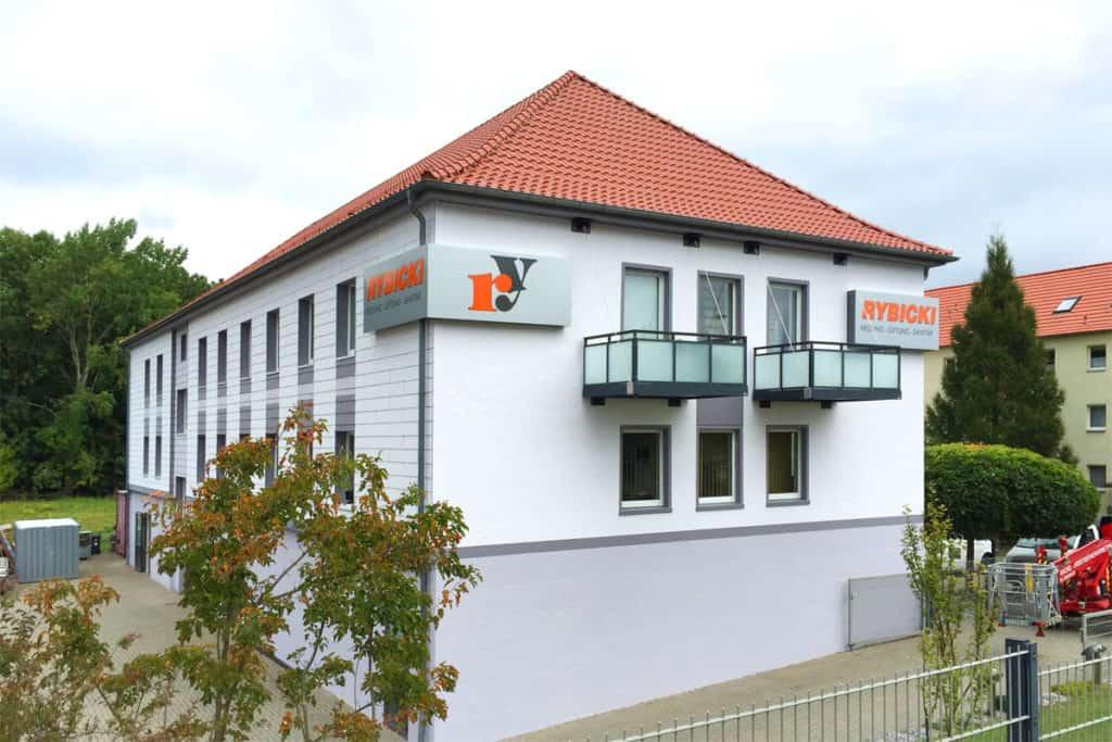 Fassadenwerbung HLS-Rybicki in Bischofferode Seitenansicht