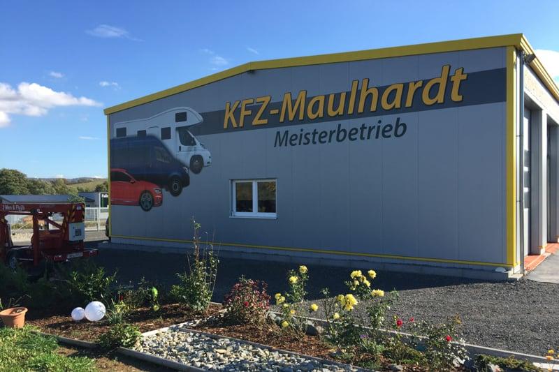 Fassadenwerbung KFZ Meisterbetrieb Maulhardt