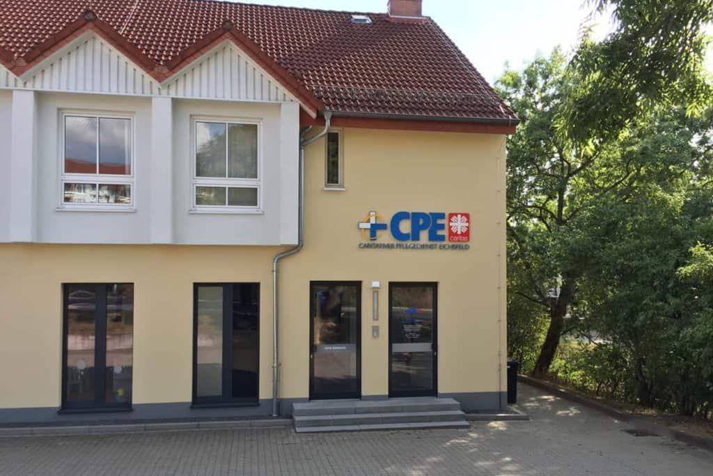 Fräsbuchstaben CPE und MVZ Dingelstädt
