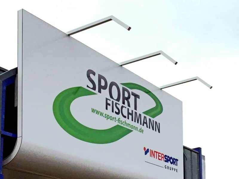Fassadenwerbung Sport Fischmann Leinefelde