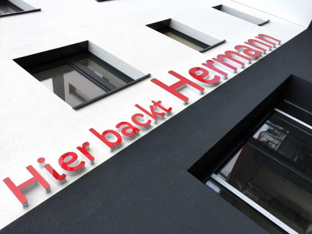 Lichtwerbung Bäckerei Hermann Worbis