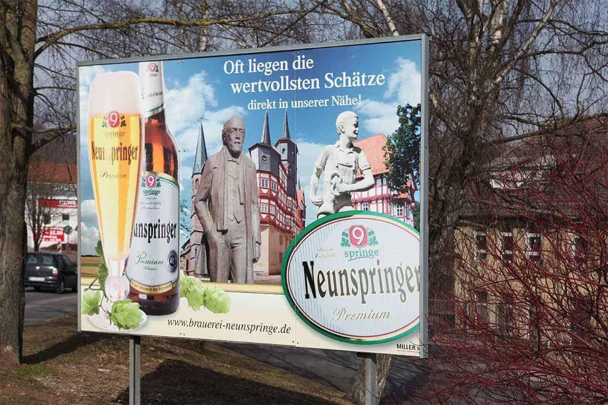 Großformatdruck Großflächenplakat Image Plakat Brauerei Neunspringe