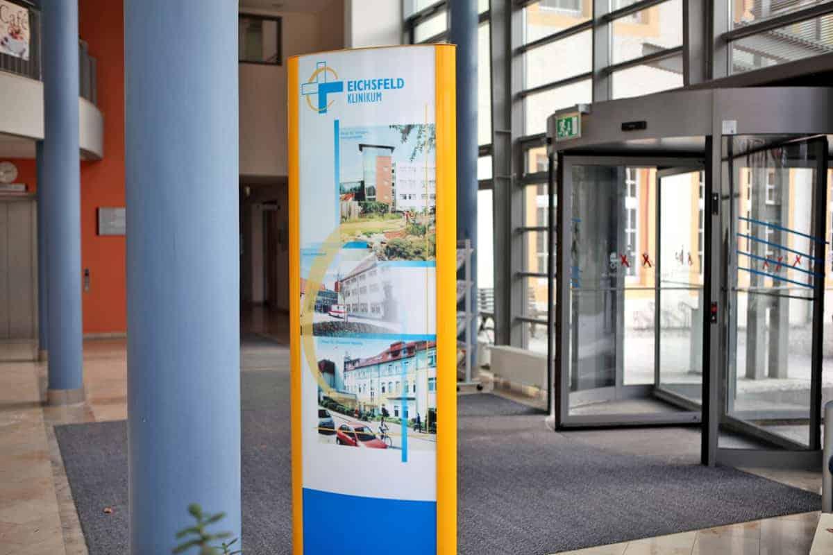 Werbepylon Eichsfeld Klinikum