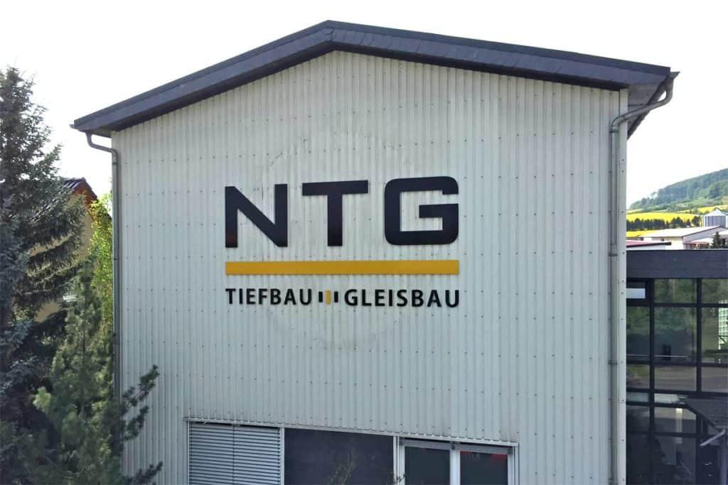 Fräsbuchstaben NTG Bau Breitenworbis