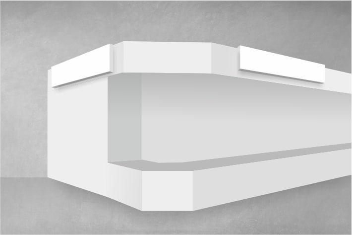 Ein Logo aus Leuchtbuchstaben, ein Werbeslogan aus Acryl, ein neues  Menüboard über dem Thresen oder individuell gerahmte Werbebotschaften.