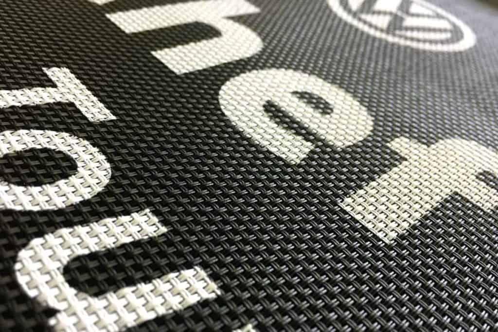 Schablonendruck für Aufdruck für das VW Autohaus Albertsmeyer
