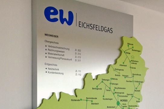 Informationsbeschilderung EW Eichsfeldgas
