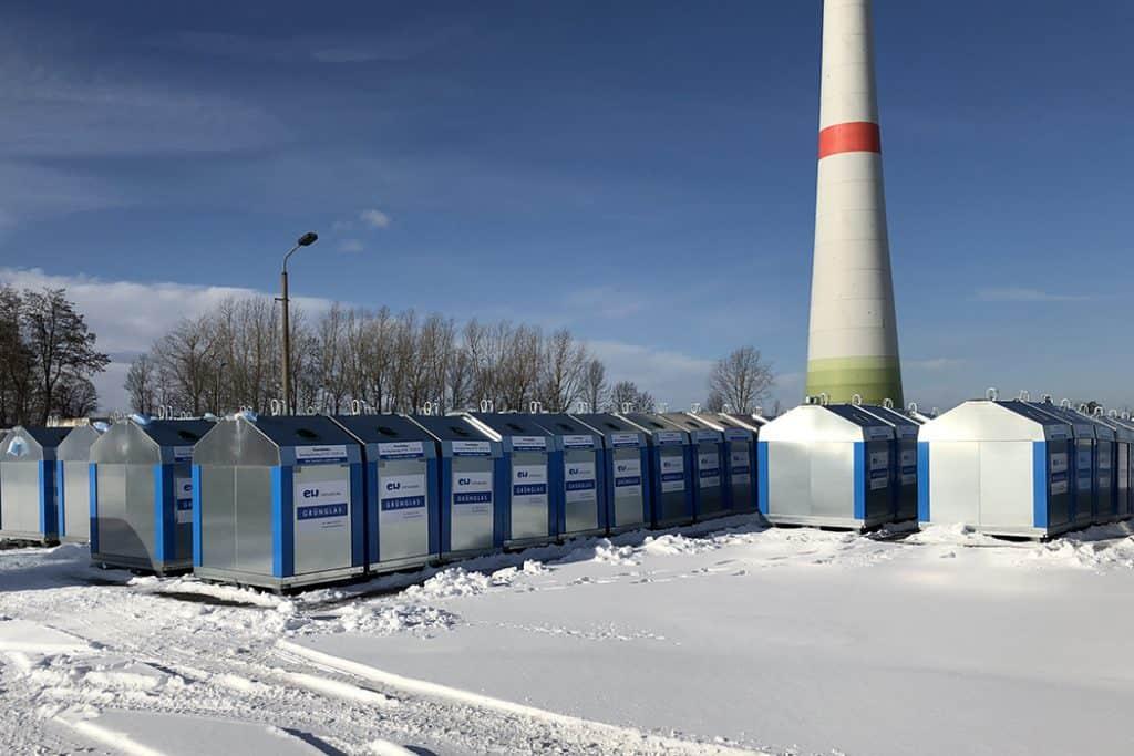 Containerbeschriftung für die EW Entsorgung