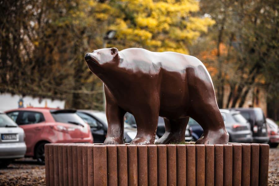 Bär aus Kunststoff am Bärenpark in Worbis