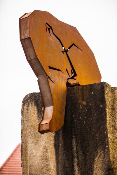 Worbiser Bär der Bärenmeile aus Corten-Stahl auf 2ter Säule in Worbis
