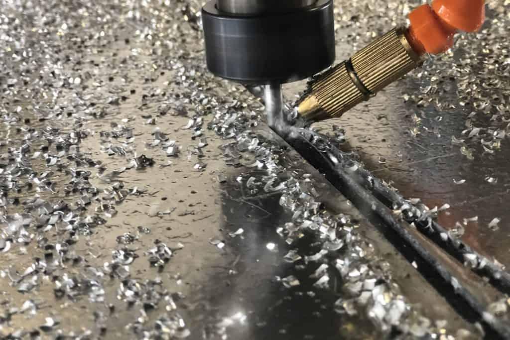 CNC-Fräsen von Aluminium, Detailansicht