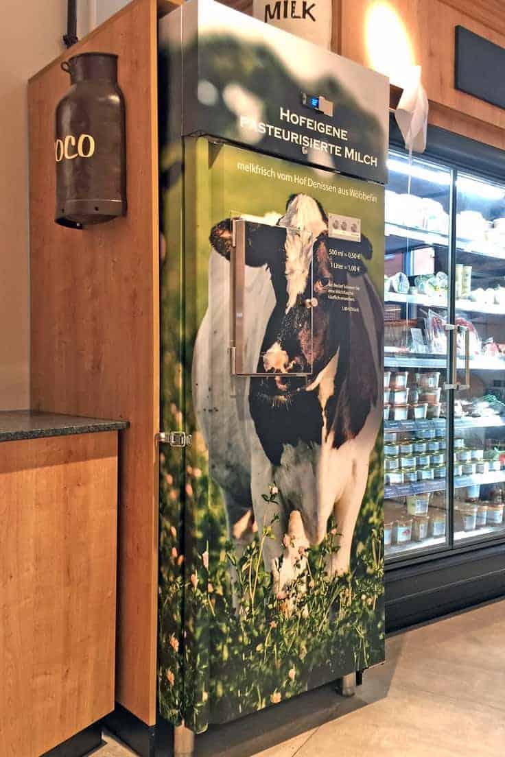 Folienverklebung Milchautomat Hofladen Denissen