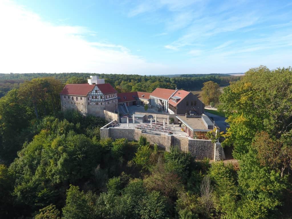 Fotografie Luftaufnahme Eichsfeld Burg Scharfenstein 7