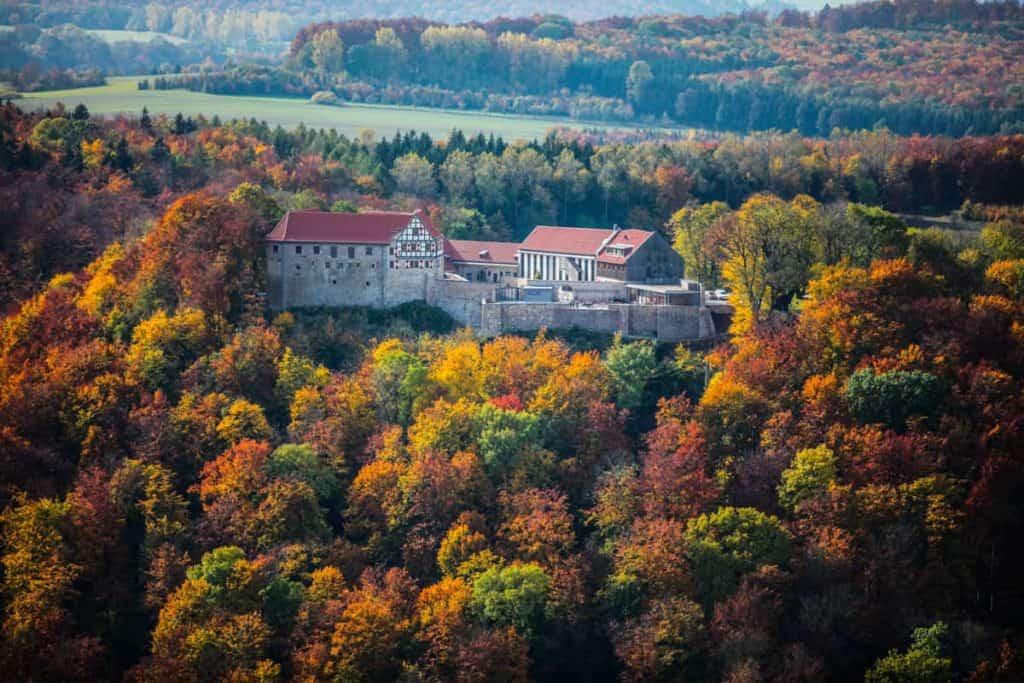Fotografie Luftaufnahme Eichsfeld Burg Scharfenstein 1