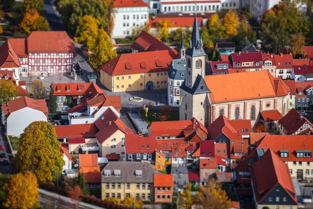 Fotografie Luftaufnahme Worbis