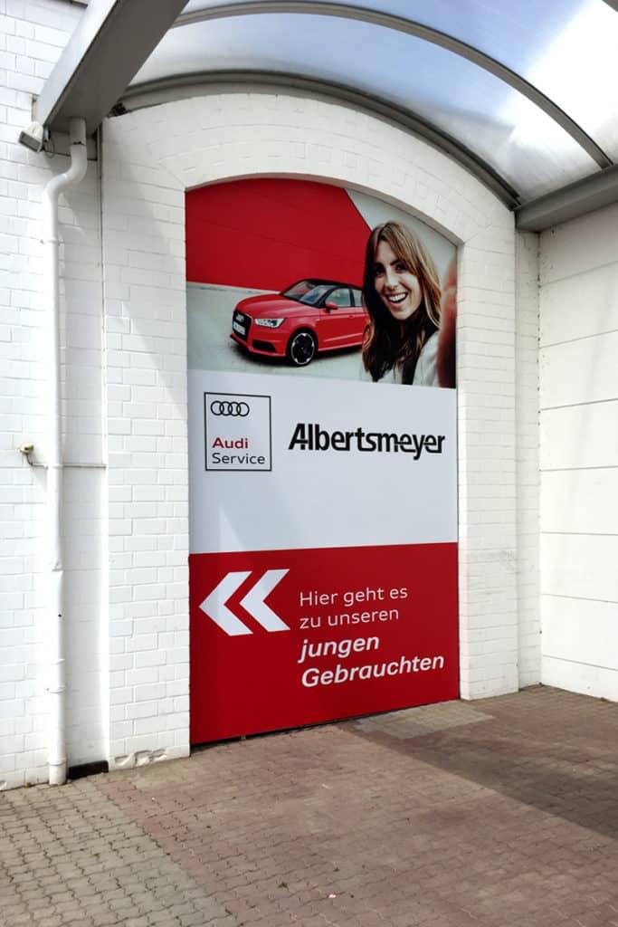 Großformatdruck Albertsmeyer Autohaus Leinefelde Mauer