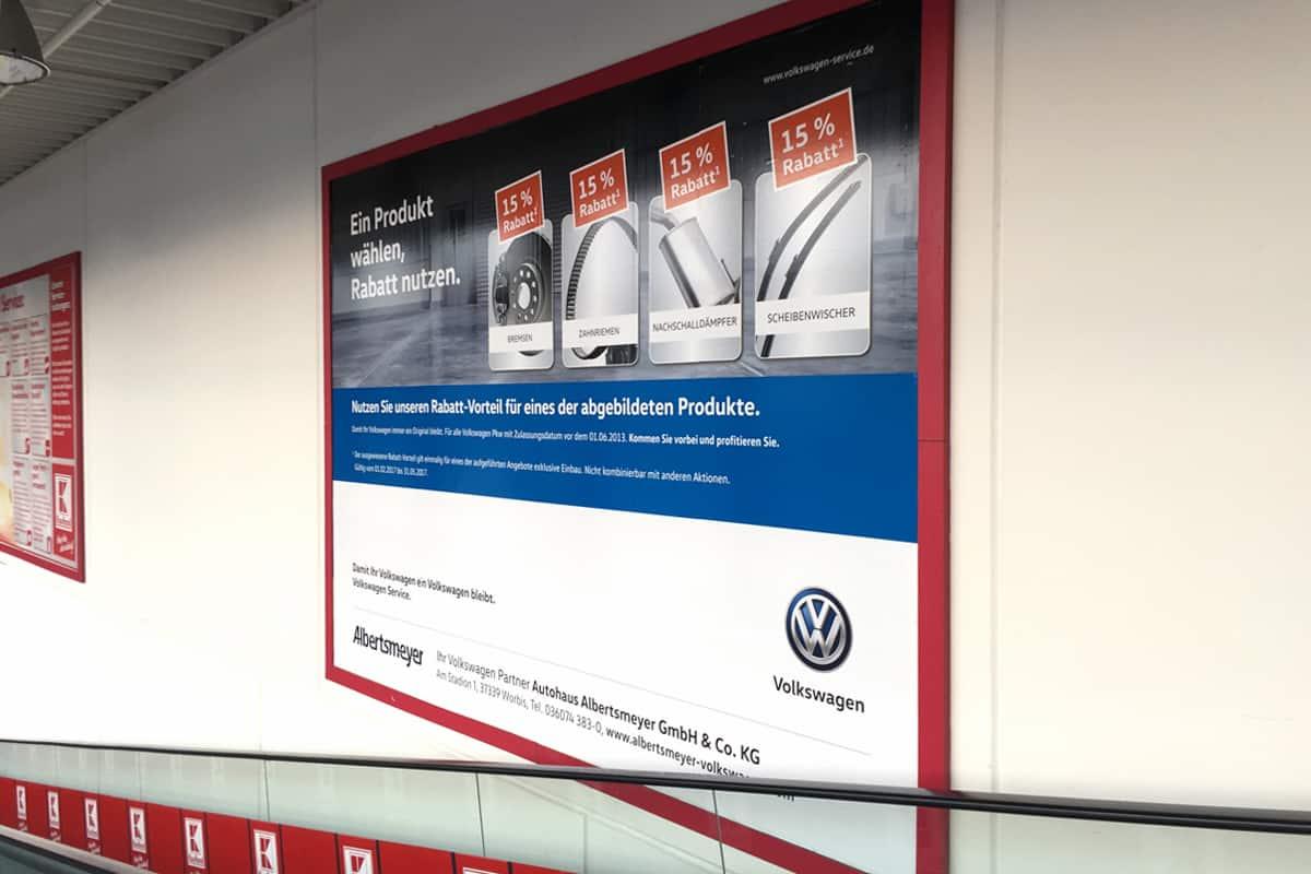 Großformatdruck Albertsmeyer Autohaus Leinefelde Supermarkt