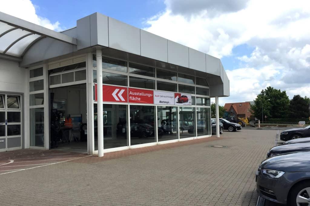 Großformatdruck Albertsmeyer Autohaus Leinefelde Schaufenster
