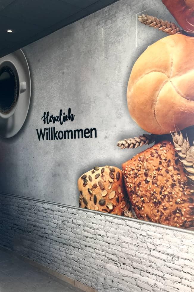 Großformatdruck Der Bäcker Feihl Marzahn