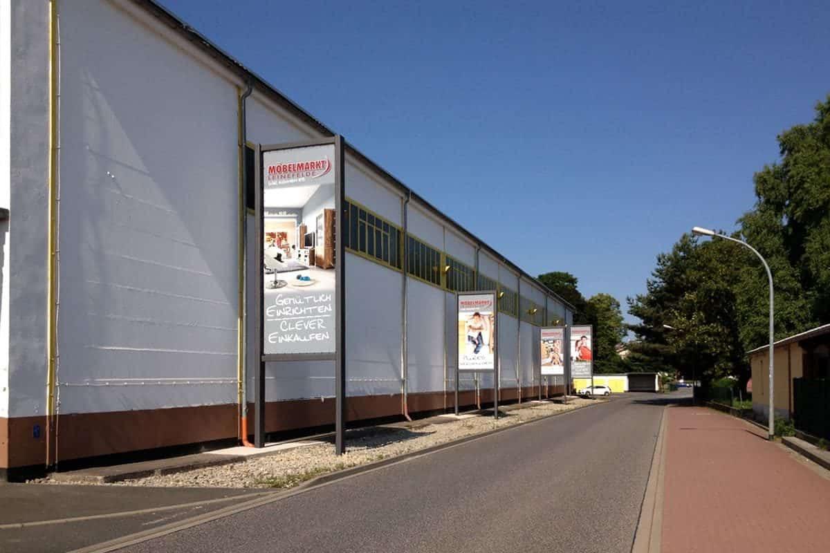 Großformatdruck, Möbelhaus, Großplanen, Werbung