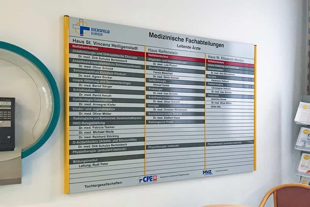 Informationsbeschilderung  Eichsfeld Klinikum 4