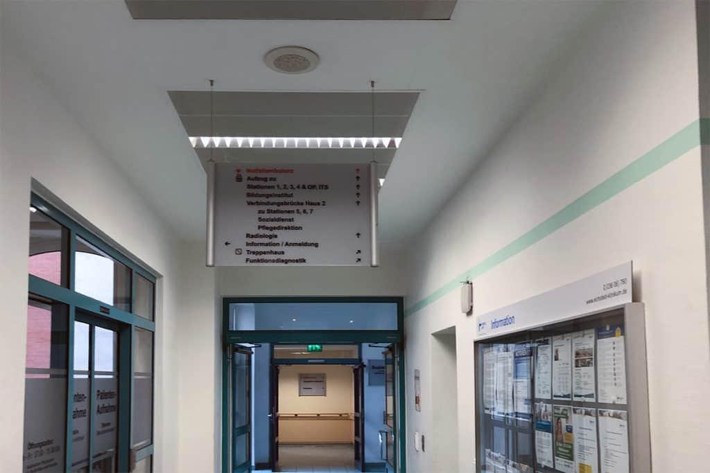 Informationsbeschilderung  Eichsfeld Klinikum 6