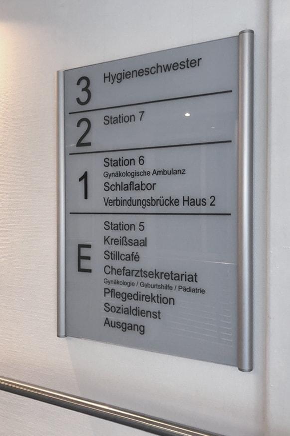Informationsbeschilderung  Eichsfeld Klinikum 8