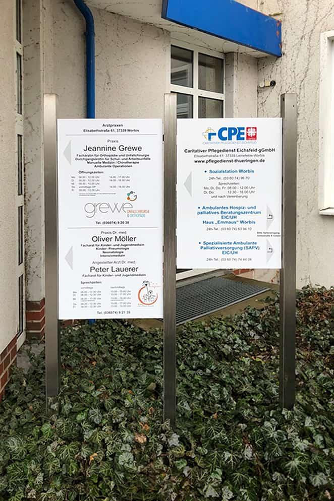 Informationsbeschilderung  Eichsfeld Klinikum 9