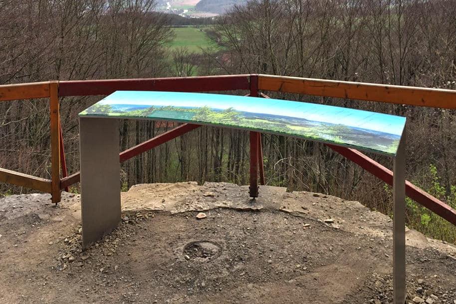 Informationsbeschilderung, Panoramatafel, Hülfensberg
