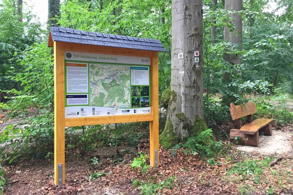 Informationsbeschilderung, Top Wanderweg Iberg