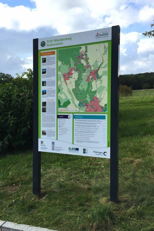 Informationsbeschilderung Wanderwegtafel Worbis