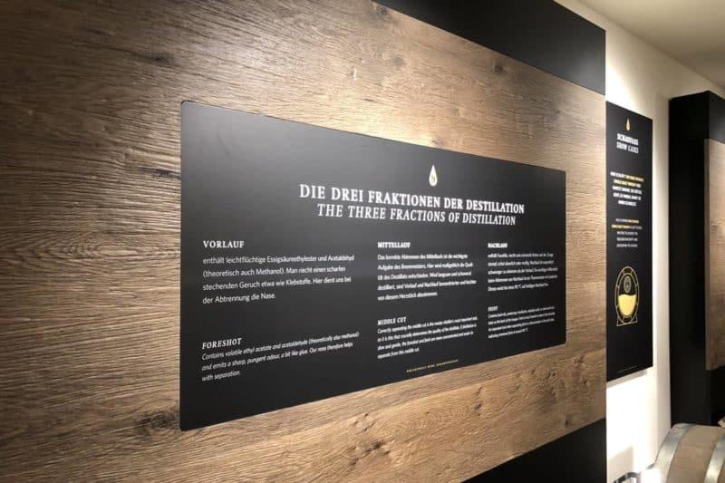 Informationsbeschilderung Whiskywelt Burg Scharfenstein