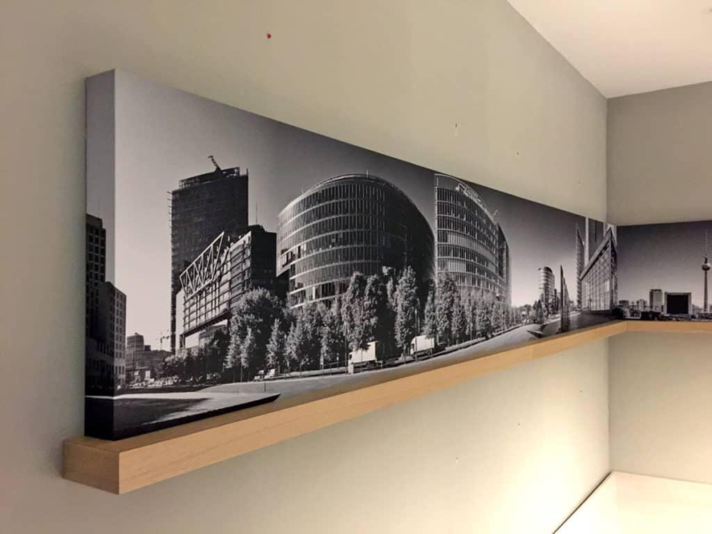 Interieur Bildelement Rewe Potsdamer Platz, Digitaldruck mit Schutzlaminat auf Möbelplatte