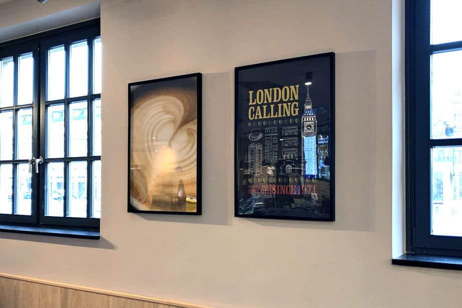 Interieur, Bilderrahmung, Costa Coffee Karlsruhe, Wandgestaltung 3