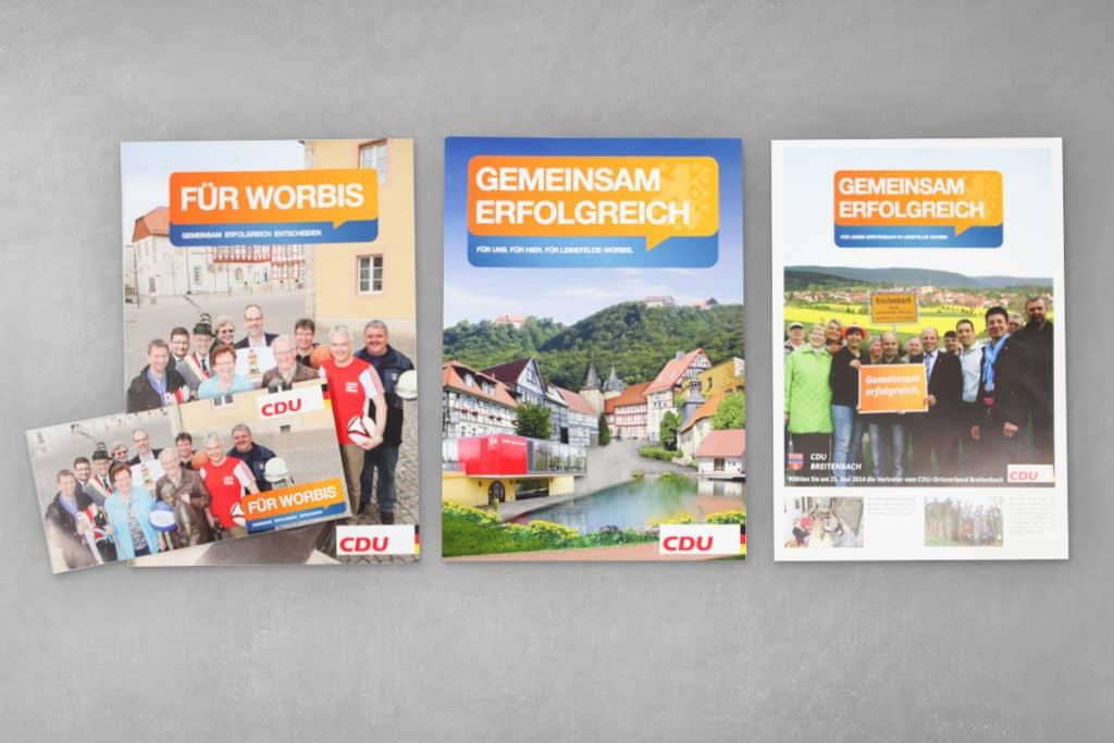 Layout Faltblatt, Flyer CDU Stadtratswahl