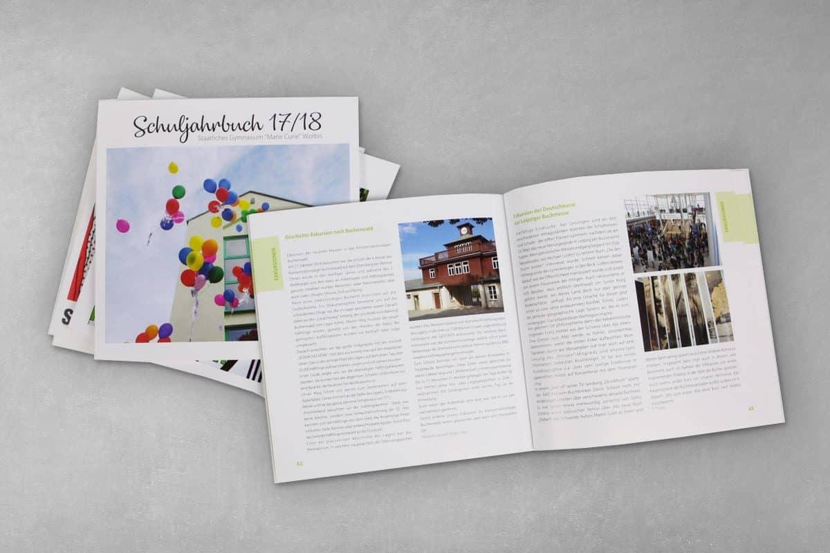 Lyout Druck Schuljahrbuch Buch Marie-Curie Gymnasium Worbis