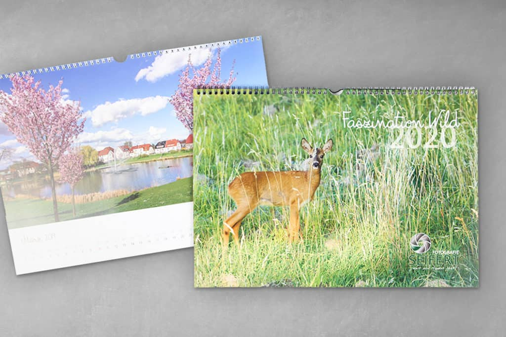 Layout Jahreskalender, Wandkalender 3