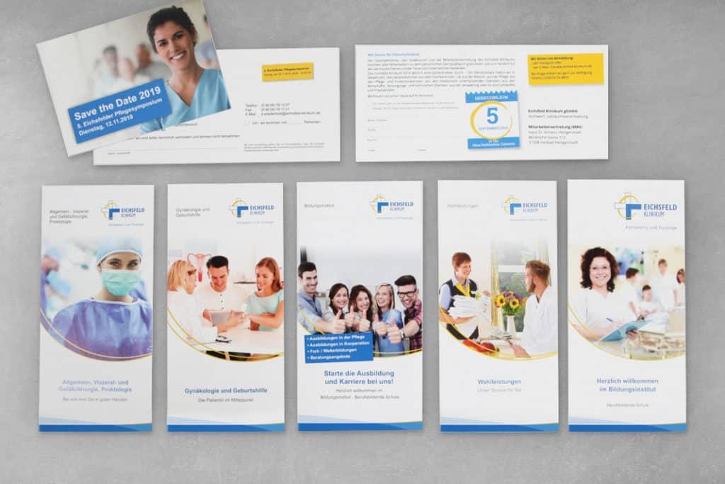 Layout Eichsfeld Klinikum, Folder, Postkarte