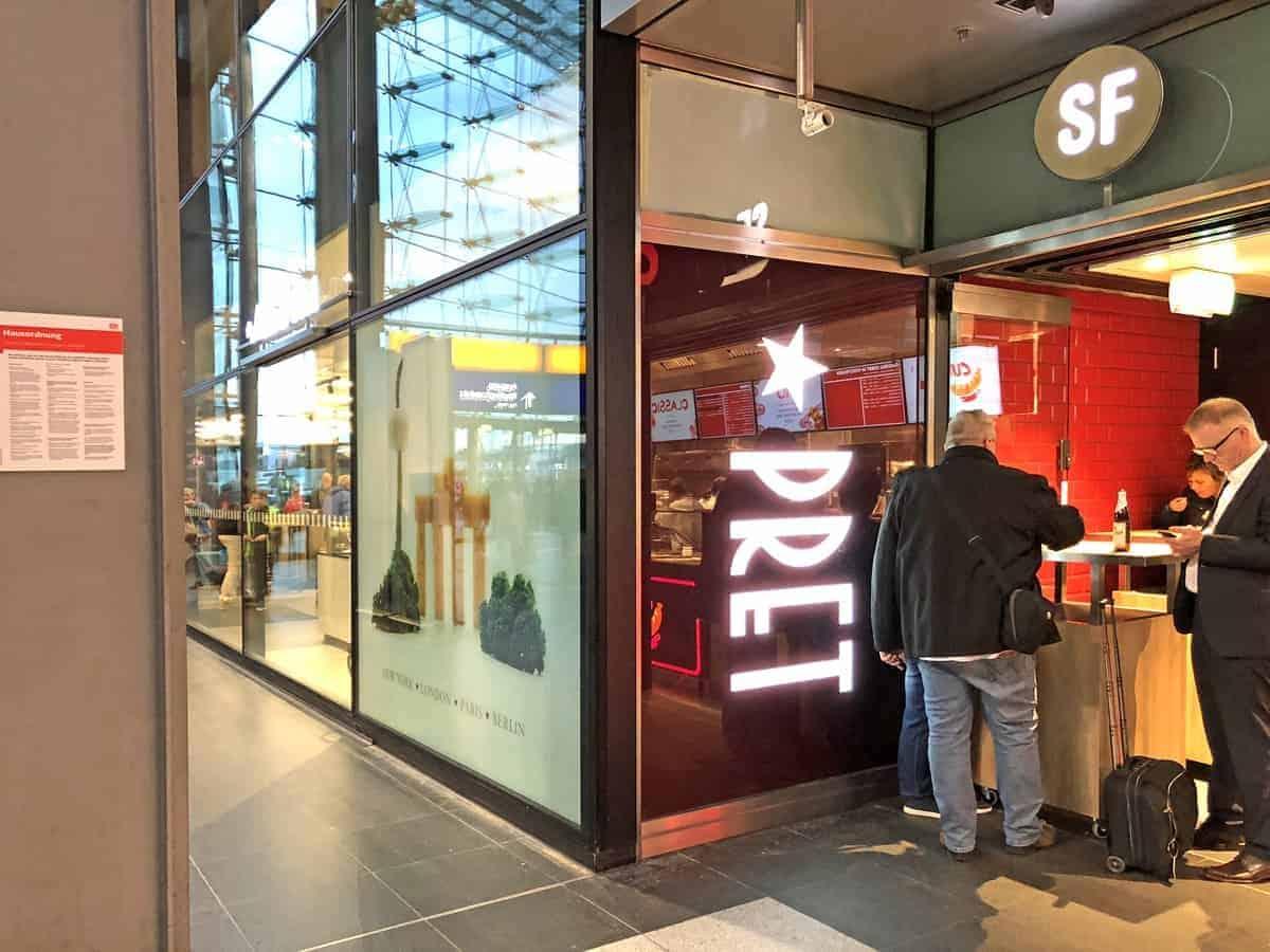 Leuchtkasten Pret a manger station food Berlin