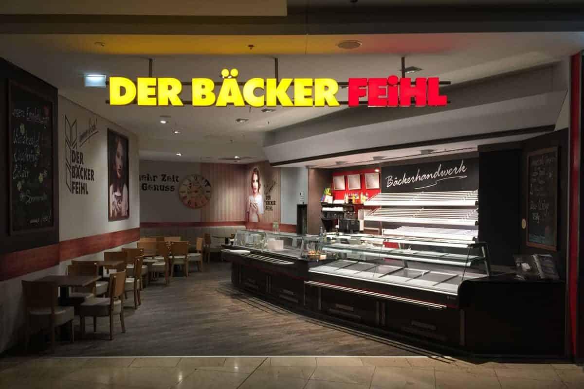 Lichtwerbung, Der Bäckerei Feihl Willmerdorf Arcaden