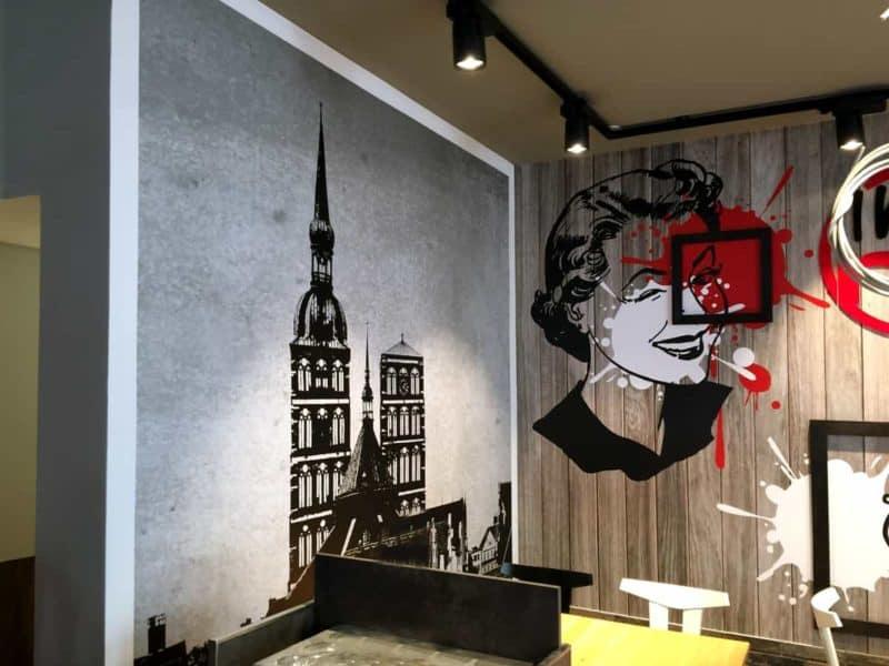 Interieur Wandgestaltung im nu coffee Stralsund