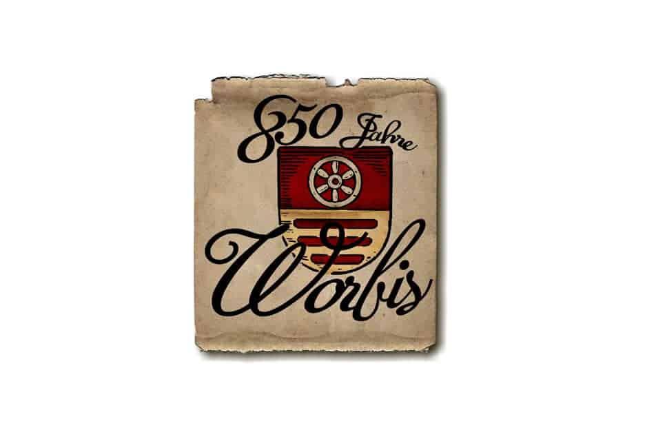 Logogetaltung 850 Jahre Worbis