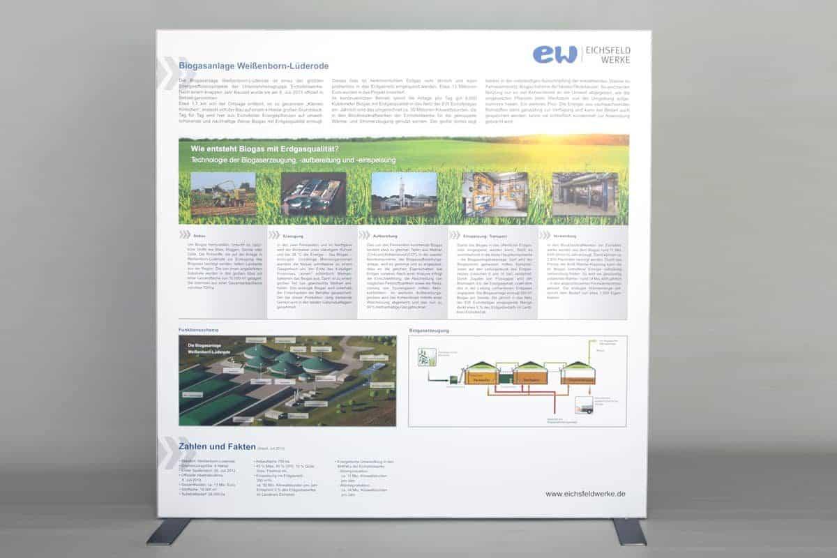 Messesystem Kederrahmen Trennwand Eichsfeldgas 2