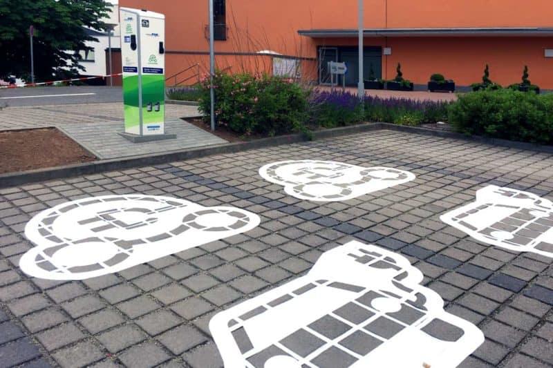 Parkplatzmarkierung Heiligenstadt