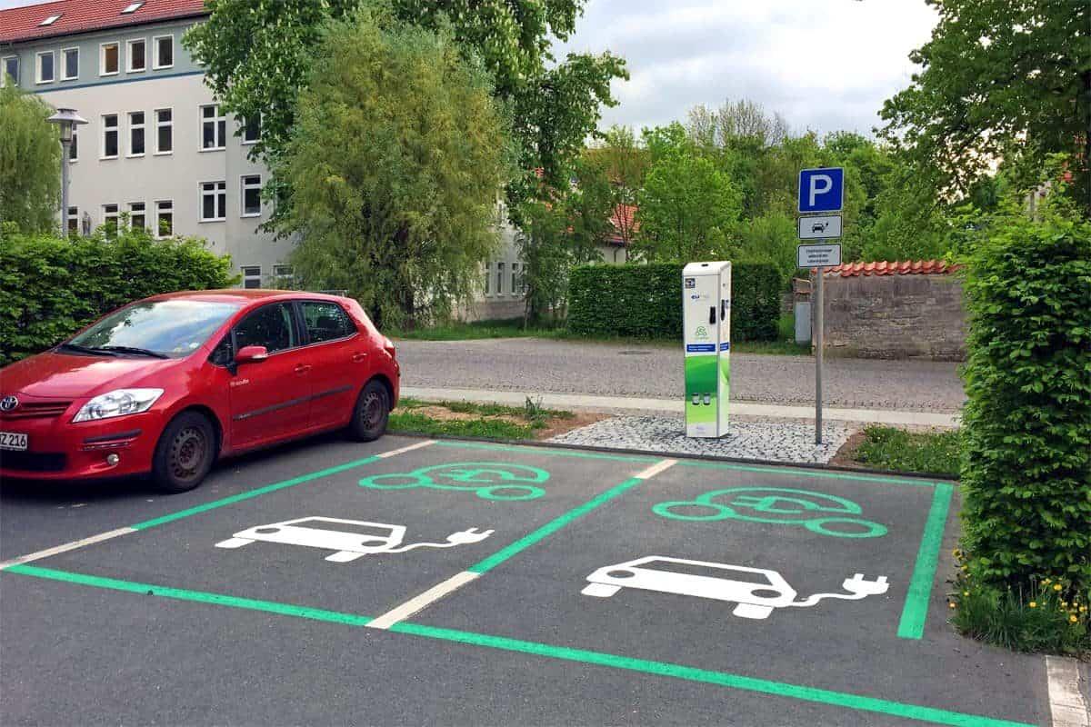 Parkplatzmarkierung Worbis 2
