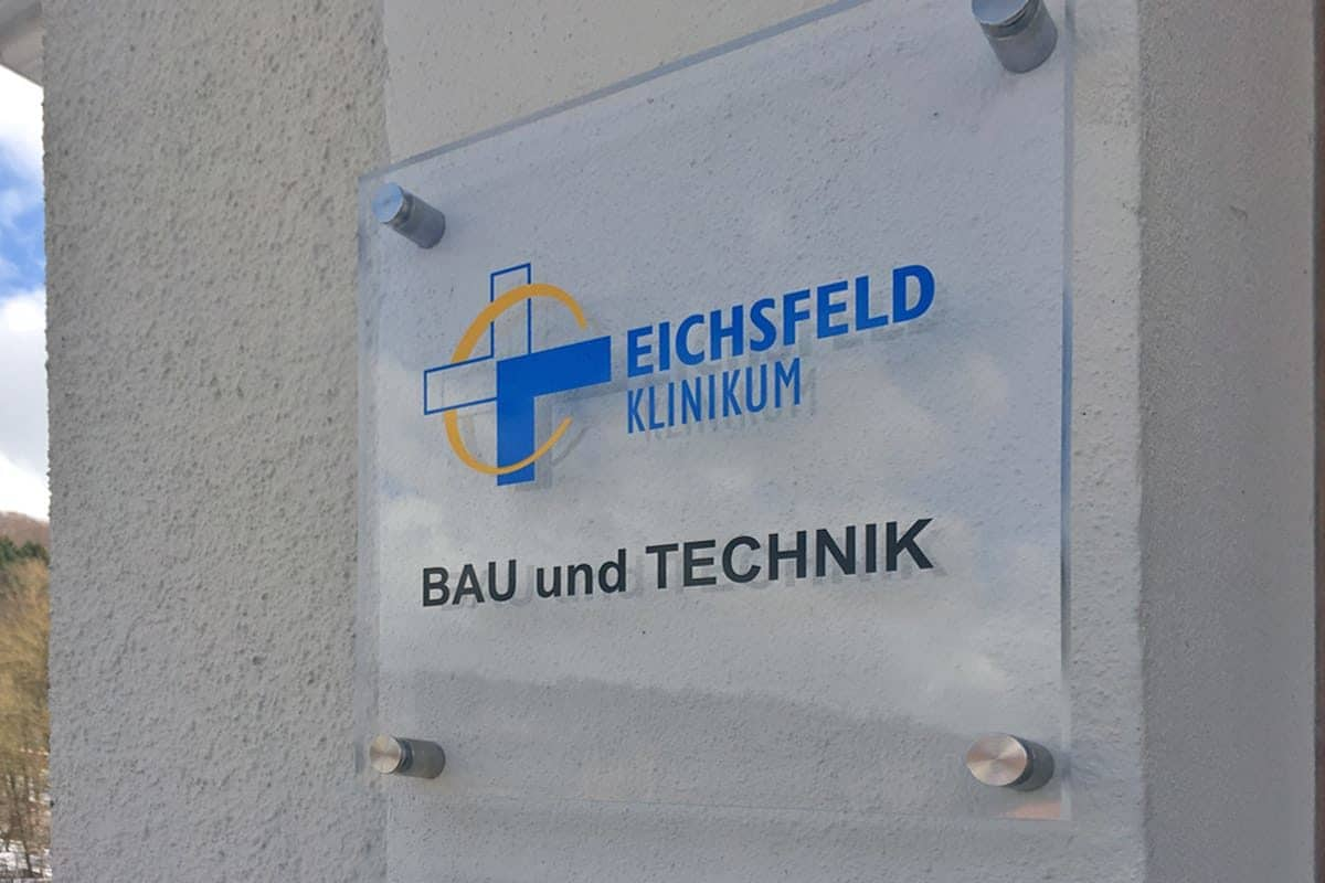 Informationsbeschilderung, Eichsfeld Klinikum 1