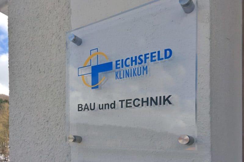 Schild aus Acryl Eichsfeld Klinikum